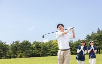 フラットなゴルフ場